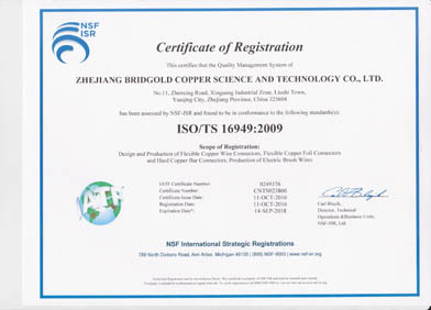 英文TS16949证书
