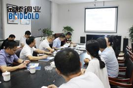 温州市财政局局长陈宣安和董书记一行莅临金桥铜业考察调研